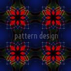Flores Caleidoscópicas Design de padrão vetorial sem costura