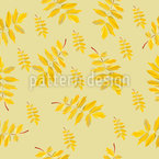 Abstract Autumn Leaves Seamless Vector Pattern Design