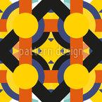 Art Deco Meets Pop Art Seamless Vector Pattern Design