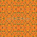Polygonal Flowers Seamless Vector Pattern Design