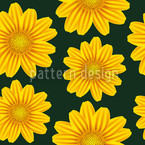Yellow Chamomile Seamless Vector Pattern Design