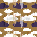 Clouds And Lines Vector Ornament