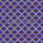 Striped Pansy Seamless Vector Pattern