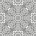 花の円と正方形 シームレスなベクトルパターン設計