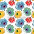 Красочный цветок Бесшовный дизайн векторных узоров