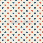 Pequeño Corazón Estampado Vectorial Sin Costura