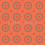 Circles And Lines Seamless Vector Pattern Design