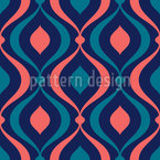 Bulbous Waves Seamless Vector Pattern Design
