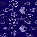 Морской мир Бесшовный дизайн векторных узоров