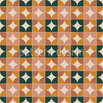 Geviertelte Kreise Vektor Muster