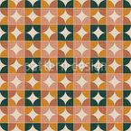 Cercles en quarts Motif Vectoriel Sans Couture
