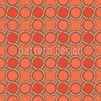 Circulos entrelaçados Design de padrão vetorial sem costura