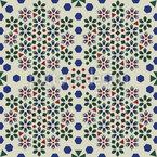Mosaïque de fleurs géométriques Motif Vectoriel Sans Couture