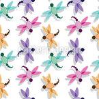 Flug Der Libelle Nahtloses Vektormuster