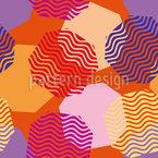 Octágonos flutuantes Design de padrão vetorial sem costura