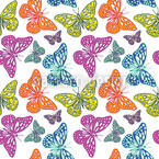 Mariposas Coloridas Estampado Vectorial Sin Costura