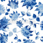 Chinoiserie Floral Fantasy Seamless Vector Pattern Design