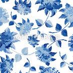 Chinoiserie Floral Fantasía Estampado Vectorial Sin Costura