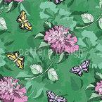 Blumen Essay Nahtloses Vektor Muster