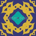 Золотая Симметрия Бесшовный дизайн векторных узоров