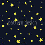 Stars In The Night Sky Vector Pattern