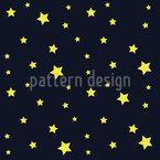 Sterne Am Nachthimmel Vektor Muster