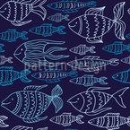 Marinefische Nahtloses Vektormuster