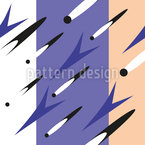 Flying Shapes On Stripes Seamless Vector Pattern Design