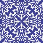 Medianoche en Marrakech Estampado Vectorial Sin Costura