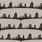 Cityscene Seamless Vector Pattern Design