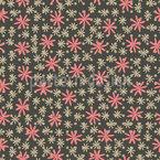 Retro Flower Seamless Vector Pattern Design