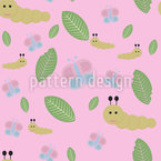 Caterpillar And Butterfly Vector Design
