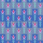 Tulipanes folclóricos Estampado Vectorial Sin Costura