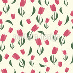 Tulipanes Peppy Estampado Vectorial Sin Costura