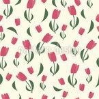 Schwungvolle Tulpen Nahtloses Vektormuster