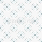 Dotted Wheel Seamless Vector Pattern Design