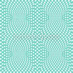 Оп Арт Точки Бесшовный дизайн векторных узоров