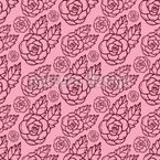 Delicate Rose Seamless Vector Pattern Design