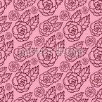 Zarte Rose Nahtloses Vektormuster