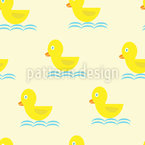 Patitos Natación Estampado Vectorial Sin Costura