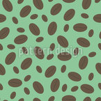 Big And Small Coffee Beans Seamless Vector Pattern Design