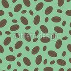 Grosse und kleine Kaffeebohnen Nahtloses Vektor Muster