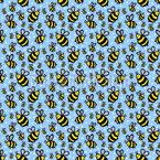 Glückliche Biene Nahtloses Vektormuster
