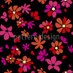 Vibrant Flower Seamless Vector Pattern Design