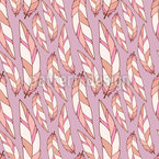 Girly Feathers Seamless Vector Pattern Design