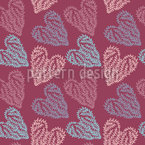 Delicate Hearts Seamless Vector Pattern Design