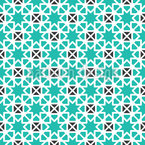 Geometric Star Mosaic Seamless Vector Pattern