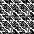 Black Rose Seamless Vector Pattern Design