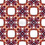 Caleidoscópio gótico Design de padrão vetorial sem costura