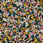 Flower And Leaf Mix Seamless Vector Pattern Design